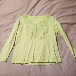 Coldwater Creek lime green top